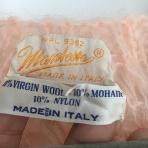1955 Vintage Accessories - VINTAGE Italian Mohair blush knit vest wool shawl
